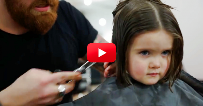 3 Year Old Girl Cuts Off Her Hair Short For One Incredible Reason
